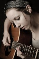 Girl and her Guitar by gpereir4