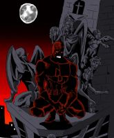 Daredevil watching over City by wburton19