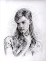 Portrait of Jessica Alba by cheatingly