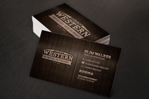 Western Style Business Cards by xstortionist