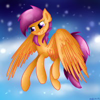 Flying with first snowflakes by muffinka22