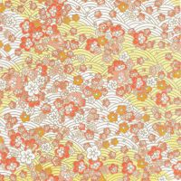 Japanese Blossoms- Tangerine by Qi-lin