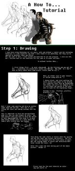 A How to, Tutorial--Drawing by BarkingSpiders