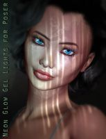 Neon Glow Light Gels for Poser by ForbiddenWhispers