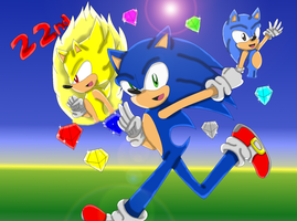 happy 22nd birthday sonic :D by crista-the-hedgehog