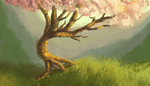Bending Tree by Dreamin-Lea
