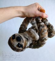 Hanging Sloth by FamiliarOddlings
