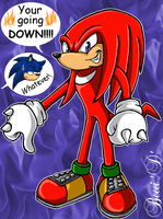 Knuckles vs Sonic by Mysterious-D
