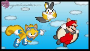 Gift: Flying Squirrels by CCgonzo12