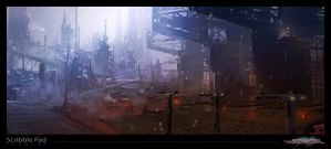 Strider - Environment Concept Art by ScribblePadStudios