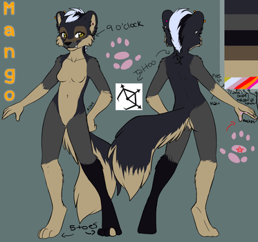 Mango Ref anthro form by mangoweasel