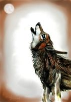 Native American Wolf by cocoawolf