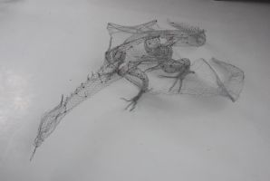 drgon wire sculpture veiw 2 by Dragonetgirl
