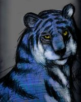 The Blue Tiger! by Katie1Grenier