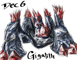 POKEDDEX Challenge - Dec 6 GIGALITH by ArwingPilot114