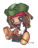 ++Chibi Captan Jack Sparrow++ by Lily-Carroll