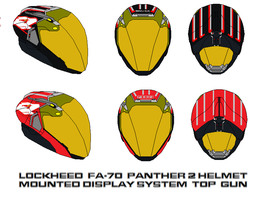 fa-70  Panther 2 Helmet Mounted Display top gun by bagera3005