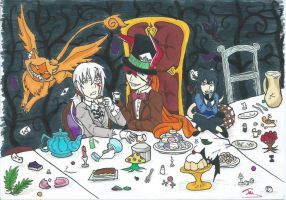 Tea Party at Tulgey Wood by HalfandHalf-Kaneki