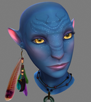 Avatar face WIP. Small update by shalizeh