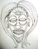 Voodoo Tribal Mask for DOK-FITZ WIP by ramworship