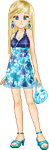 Clarice in Blue Sundress by Lyra-Elante