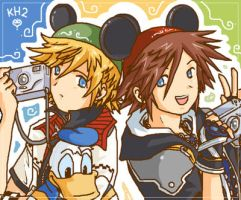 Sora - Roxas .:Disney World:. by BoGilliam