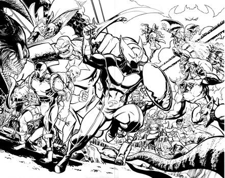 Shadowhawk Resurrection #5 Page 6-7 Spread by ToneRodriguez