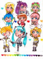 vocaloids and hearts by IDK-kun