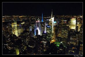 Times Square from Above by DarthIndy