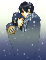 winter_boy and girl by taka0801