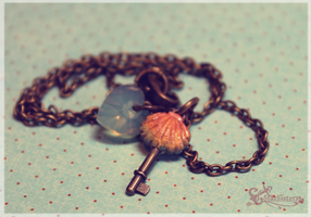 Clam Shell Key Necklace by WaterGleam