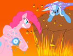 Hot-Blooded Pinkie vs. Great and Powerful Trixie by AnimeFreak40K