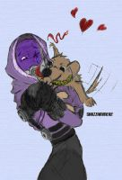 Tali and Puppy by Jake71887
