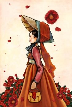 The lady in hanbok by MJ-Kwon