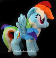 Rainbow Dash Wonderbolt Academy Plush by siriasly