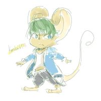 Mouse with clothes by Kurokai6923