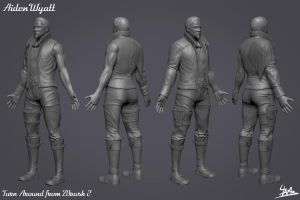 3D Character 01: Aiden Wyatt High Poly 2 by Ulamb