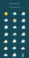 Freebie - Weather Icons by GraphBerry