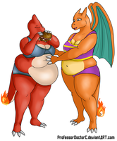 COMMISSION: Charmeleon - Charizard WG part 2 of 8 by ProfessorDoctorC