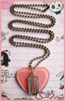 Razor and Heart Necklace by cherryboop