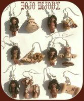 Redskin girls earrings Kawaii1 by Bojo-Bijoux