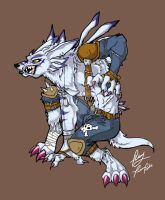 .weregarurumon-full colour. by tiikay