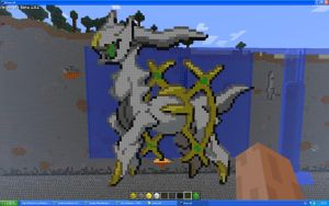 Arceus On Minecraft by Miccopicco