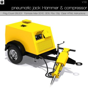 pneumatic jack Hammer and comp by HollowIchigoBanki