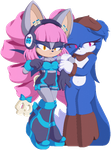 PINK AND BLUE by Teh2chao2