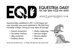 EqD flyer for My Little Pony Fair by purpletinker