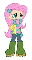 Fluttershy Winter Wrap Up by kaoshoneybun