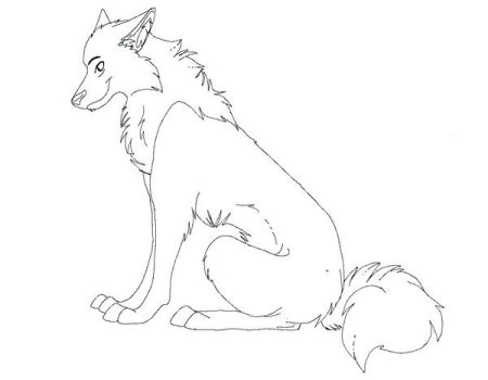 Free wolf lineart by FrostBlaze442