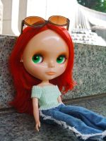 Blythe: Camille at an Art Gallery by tawachic
