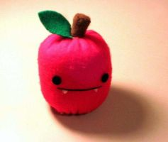 Vampire Apple Plushie by uglykat